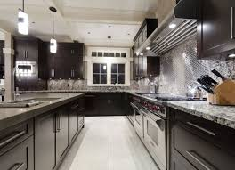 kitchen colors with brown cabinets dark granite countertops with
