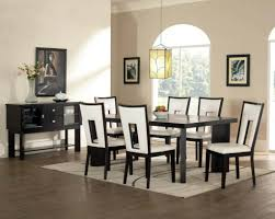 simple living parson black cool black and silver dining room set