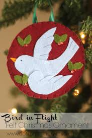 bird in flight felt ornament christmas ornament ornament and bird