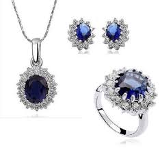 sapphire necklace price images Oval lab created ceylon and white sapphire frame ring necklace jpg