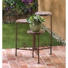 rustic triple planter stand wholesale at koehler home decor