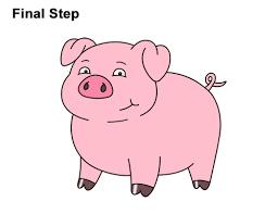 how to draw a pig cartoon