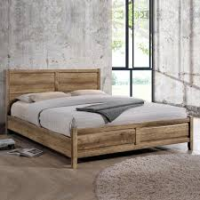 Mdf Bed Frame King Size Modern Mdf Bed Frame In Oak Tone Discounts