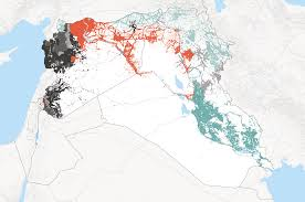 Syria War Map by Detailed Map Showing Areas Under Control Of Isis In Syria And Iraq