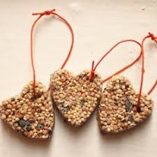 even birds like gifts make your own birdseed ornaments to feed your