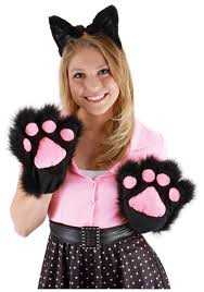 kitty cat halloween costume toddler black kitty paws