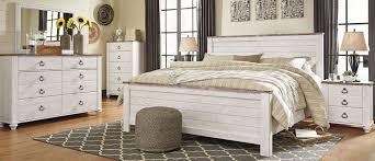 Antique White King Bedroom Sets Willowton Whitewash Panel Bedroom Set