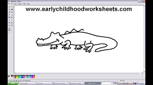 how to draw cartoons crocodile easy step by step for kindergarten