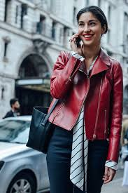 14 stylish red leather jacket ideas for women fmag com