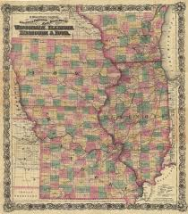 missouri county map with roads g woolworth colton s county and township rail road map of