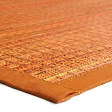 tapis de cuisine orange tapis salle de bain orange en jonc de mer 110x70cm