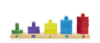 amazon com melissa u0026 doug stack and sort board wooden