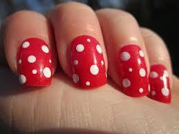 nail design red nail arts