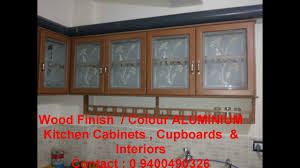 low cost fully aluminium kitchen home interiors kerala