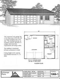 Garage Apartment Plan Garage With Apartment Single Story Garage Apartment Plan