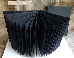 guest book with black pages custom wedding guestbook photo album pen and by indrasideas