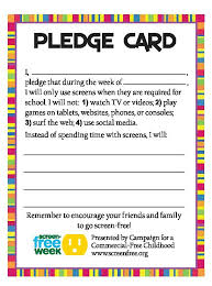 pledge cards template how to host a