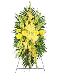 greenville florist soulful sun funeral spray in greenville oh helen s flowers gifts