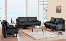 Living Room Black Leather Sofa Black Living Room Furniture Sets Designs Ideas U0026 Decors