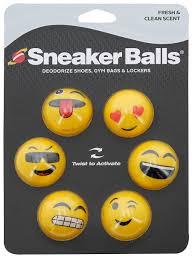 clean emoji sneaker balls emoji face shoe freshener 6 pack accessories