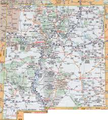 United States Map With Time Zones by Large Detailed Roads And Highways Map Of New Mexico State With