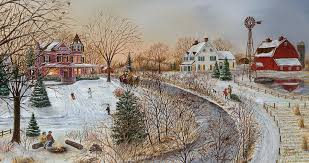 country christmas country christmas painting by doug kreuger