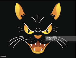 spooky haloween pictures cartoon image of spooky halloween black cat vector art getty images