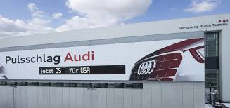 audi germany headquarters display at audi plant shows rate of car production in real time