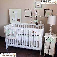 Baby Bedding Crib Set Teddy Nursery Bedding Trendy Sweet Jojo Designs Ethan Green