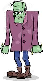 spooky halloween images cartoon illustration of spooky halloween frankenstein monster