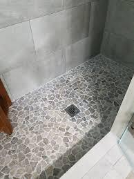 stone grey mosaic tile pebble tile shop