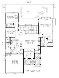 One Level Home Floor Plans Southern Style Houses House Plans At Dream Home Source Beauteous