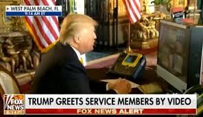 president greets troops on thanksgiving morning kicks