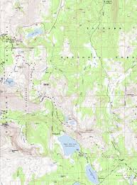 Tilden Park Map Topo Hiking Map Carson Pass To Lost Lakes Pacific Crest Trail