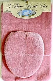 Pink Bathroom Rugs 3 Bath Rug Set Pink Bathroom Mat Contour Rug Lid Cover Non