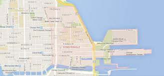 Chicago Riverwalk Map by Streeterville Archives