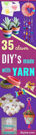 25 best easy yarn crafts ideas on pinterest yarn crafts things 35 clever diys made with yarn