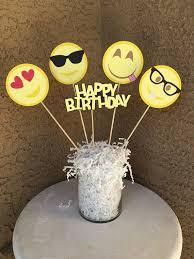 Centerpieces For Birthday by Custom Emoji Inspired Theme Centerpieces For Birthday Or Other