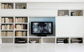 Contemporary White Bookcase by Cool Design Of Wall Units For Living Room With White Excerpt Rooms
