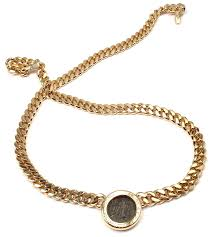 coin necklace gold images Bulgari ancient roman coin gold link necklace for sale at 1stdibs jpeg