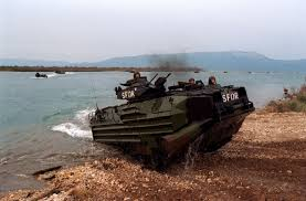 amphibious vehicle a marine assault amphibious vehicle comes ashore at port ploce