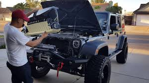 jeep gladiator gladiator grill install on 2007 2017 jeep wrangler jku youtube