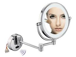lighted magnifying makeup mirror new lighted makeup mirror by bathroom accessories manufacturer china