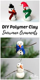 diy polymer clay snowman ornament handmade ornaments simple