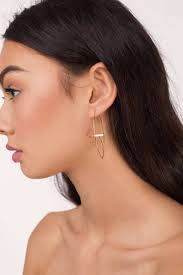 bar earrings new horizon gold bar earrings 6 tobi us