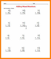 6 adding and subtracting mixed fractions worksheet report example
