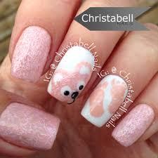 christabellnails teddy bear and baby feet nails tutorial youtube