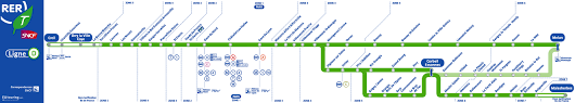 Paris Train And Metro Map by Sncf And Ratp Rer Train Maps For Paris And Ile De France