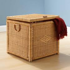Hinged Storage Ottoman Storage Cocktail Tables With Storage Footed Rattan Weaved