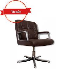 fauteuil de bureau cuir vintage fauteuil de bureau cuir p128 design osvaldo borsani pour tecno